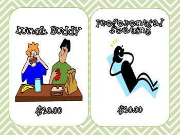 PBIS Monetary Reward System