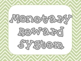 PBIS Monetary Reward System
