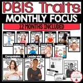 PBIS Monthly Character Education Traits {12 Months of Materials}