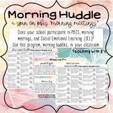 PBIS Morning Meetings - Huddles