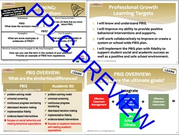 PBIS Plan Professional Development Bundle