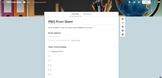 PBIS Point Sheet Google Form