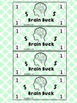 PBIS- Positive Behavior Class Incentive- Brain Bucks, Ram Bucks, etc.