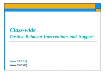 PBIS Positive Behavior Interventions and Support RTI PowerPoint