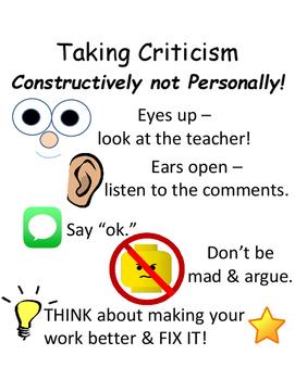 PBIS Poster Behavior Management: Constructive Criticism