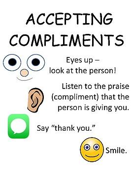 PBIS Poster Behavior Management: How to Accept Compliments