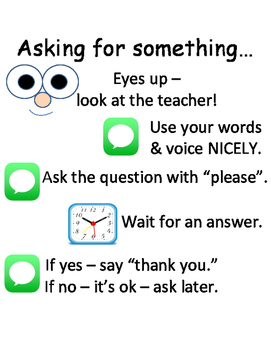PBIS Poster Behavior Management: How to Ask for Something