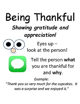 PBIS Poster Behavior Management: How to Be Thankful