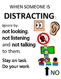 PBIS Poster Behavior Management: How to Ignore Distractions