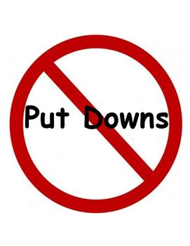 PBIS Poster Behavior Management: No Put Downs!