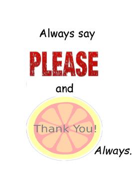 PBIS Poster Behavior Management: Please & Thank You