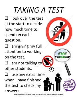 PBIS Poster Behavior Management: Taking a Test