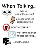 PBIS Poster Behavior Management: Talking without Interrupting