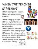 PBIS Poster Behavior Management: When the Teacher is Talking