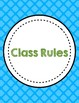 PBIS Posters & Classroom Rules-Rules Only (No Clipart)