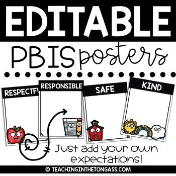 PBIS Posters EDITABLE