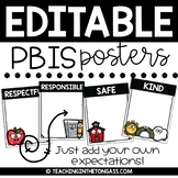 PBIS Posters EDITABLE | PBIS Classroom Rules Posters