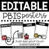 PBIS Classroom Posters EDITABLE