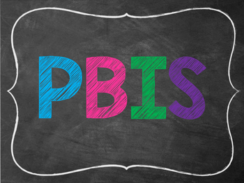 PBIS Posters English and Spanish ~ Chalkboard