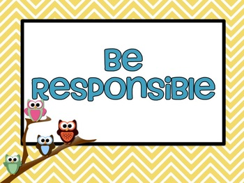 PBIS Posters - Owls!