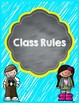 PBIS Posters and Classroom Rules