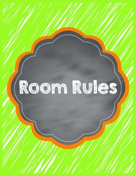 PBIS Posters and Classroom Rules Scribbles Version (No Kids)