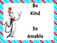 PBIS Posters in English and Spanish ~ The Cat in the Hat