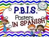 P.B.I.S. Posters in Spanish: Chevron