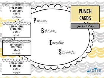 PBIS Punch Card (Gen. Ed. Edition)