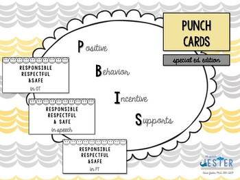 PBIS Punch Cards (special ed. edition)