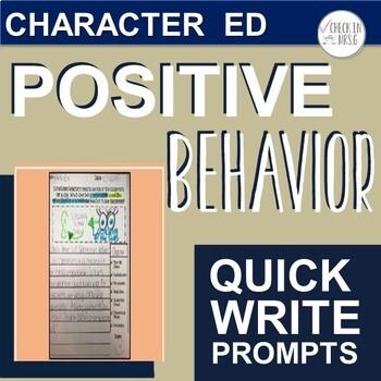 PBIS Quick Write Prompts
