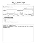 PBIS Referral Form