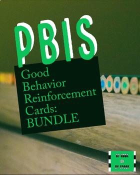 PBIS Reinforcement Cards BUNDLE