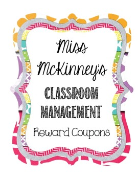 PBIS Reward Coupon System