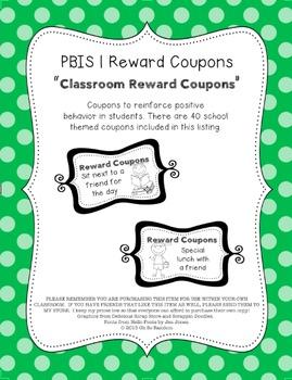 PBIS | Reward Coupons | School Themed