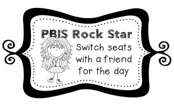 PBIS | Reward Coupons | Rock Star Themed