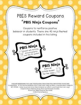 PBIS | Reward Coupons | Ninja Themed