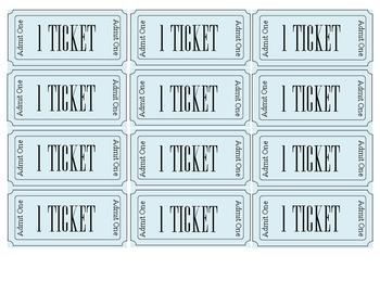PBIS Reward Tickets
