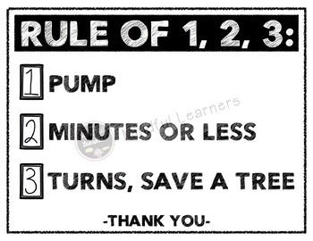 Bathroom Rule 1, 2, 3