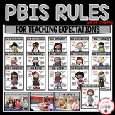 PBIS Rules Posters and Printables {for teaching expectations} GRAY THEME