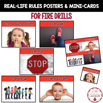 PBIS Rules Posters and Printables {for teaching expectations of Fire Drills}