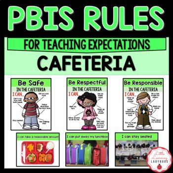 PBIS Rules Posters and Printables {for teaching expectations of the cafeteria}