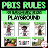 PBIS Rules Posters and Printables {for teaching expectations of the playground}