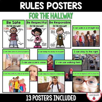 PBIS Rules Posters and Printables {hallway expectations FREEBIE}