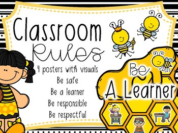 PBIS Rules Posters with Visuals
