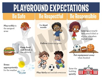 PBIS School-wide Expectations Posters