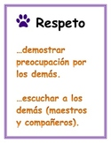 PBIS Spanish I can statements-paw prints