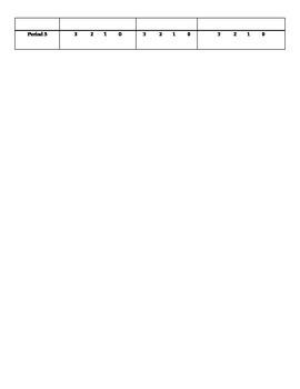 PBIS Student Pointsheet; Make collecting behavior data much easier!