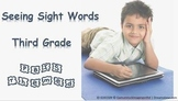 PBIS Themed Seeing Sight Words - Third Grade (Automatic Version)