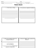 PBIS Think Sheet